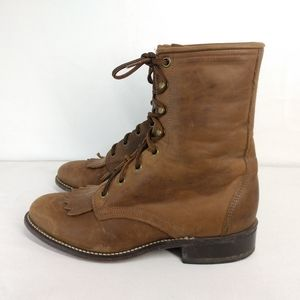 Laredo Brown Leather High Top Western Boots